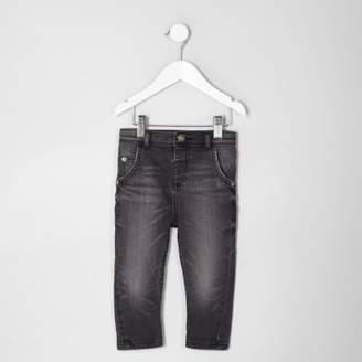 River Island Mini boys black Tony washed slouch jeans