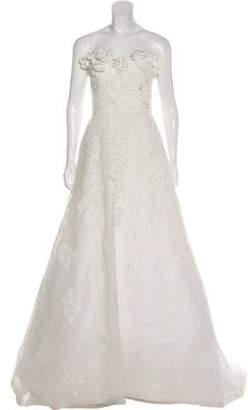 Oscar de la Renta Embellished Wedding Gown