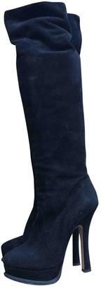 Prada Black Suede Boots