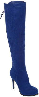 Two Lips 2 Lips Too Womens Lifted Over the Knee Boots Stiletto Heel Zip Wide Width