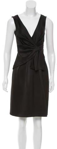 pradaPrada Tie-Accented Silk Dress