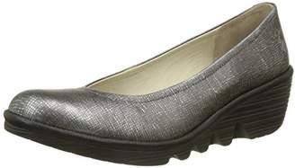 Fly London Women's Pump Closed-Toe Heels, (Anthracite Silver/Black), 42 EU