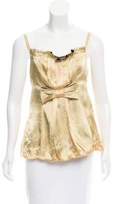 Marc by Marc Jacobs Satin Sleeveless Top