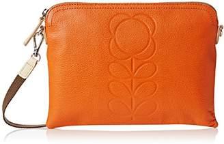 Orla Kiely Embossed Flower Leather Travel Bag