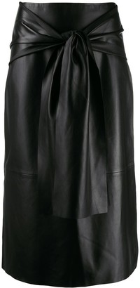 Joseph midi skirt with knot detail