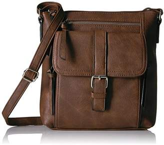Bueno of California Buckle Tech Cross Body with Phone Charger in