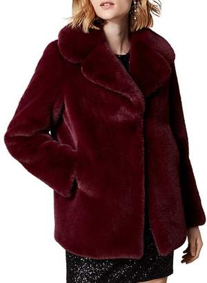 Karen Millen Relaxed Faux Fur Jacket