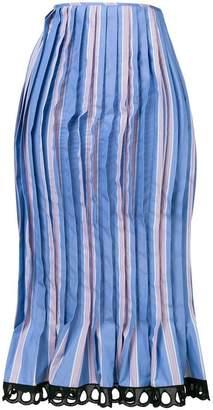 Marni pleated fishtail pencil skirt