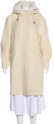 Akris Alpaca Knee-Length Coat