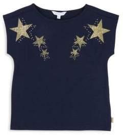 Little Marc Jacobs Girl's Studded Star T-Shirt