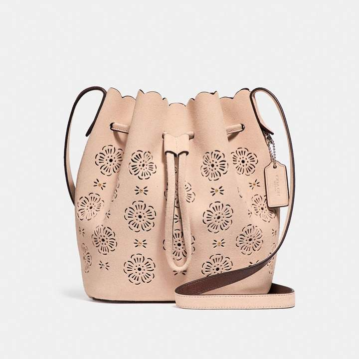 Coach New YorkCoach Bucket Bag 18 With Cut Out Tea Rose - BEECHWOOD/LIGHT GOLD - STYLE
