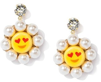 Women's Venessa Arizaga So In Love Drop Earrings $150 thestylecure.com
