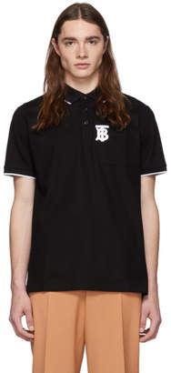 Burberry Black Embroidered TB Polo