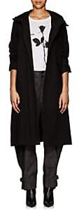 Yohji Yamamoto Regulation Women's Cotton-Blend Canvas Hooded Coat - Black