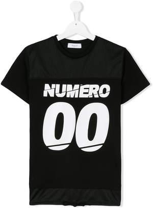 Numero 00 Numero00 Kids TEEN logo print T-shirt