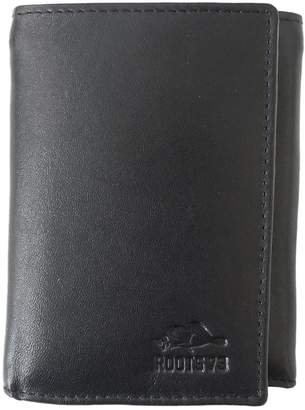 Roots Silhouette Leather Trifold Wallet