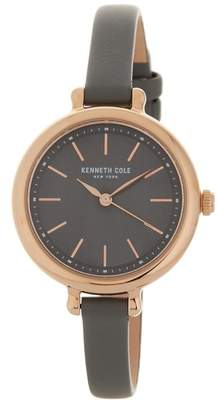 Kenneth Cole New York Women's Classic leather Strap Watch, 32 x 38.7mm