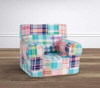 Pottery Barn Kids Pink Madras Anywhere Chair(R) Slipcover Only