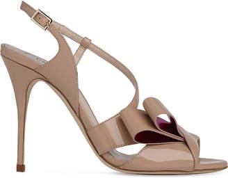 LK Bennett Erica asymmetric patent leather sandals