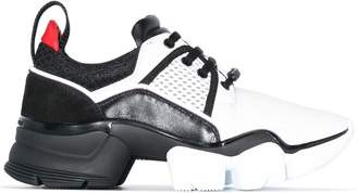Givenchy black and white jaw neoprene and leather sneakers