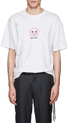 Vetements Men's Lucky Pig Cotton Oversized T-Shirt