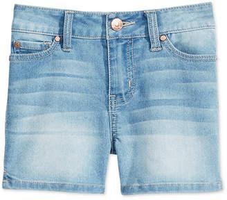 Celebrity Pink Faded Denim Shorts, Big Girls