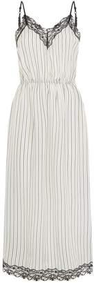 Sandro Striped Midi Slip Dress