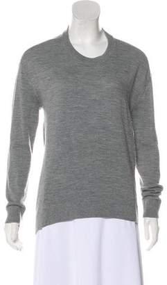 Balenciaga Virgin Wool & Cashmere Long Sleeve Sweater