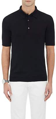 John Smedley Men's Cotton Polo Shirt - Black
