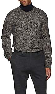 Brioni Men's Mélange Wool Chunky Sweater - Wht.&blk.