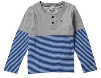 Hurley School Yard Henley Long Sleeve Tee (Toddler Boys)