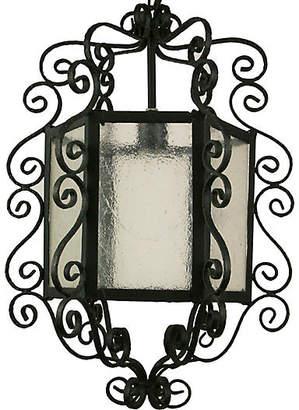 One Kings Lane Vintage Large Scrolled Black Lantern - brunelli designs inc