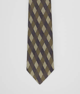 Bottega Veneta ANTHRACITE/GREEN SILK TIE