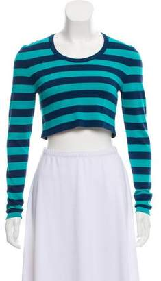 Torn By Ronny Kobo Striped Cropped Sweater
