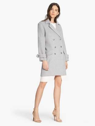 Halston Oversized Double Breasted Coat