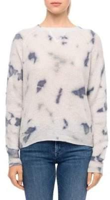 Line Clover Tie-Dye Waffle Sweater
