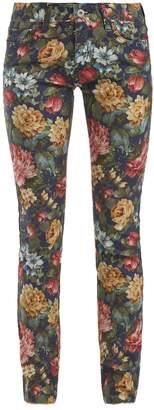 Junya Watanabe Floral-print cotton-blend jeans