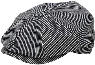 Striped Cotton Flat Cap