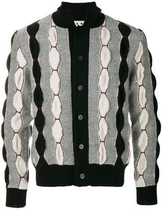 Marni geometric paneled cardigan