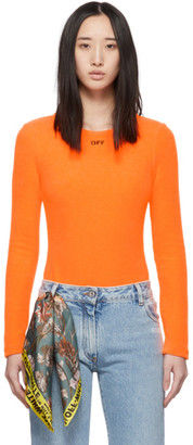 Off-White Off White Orange Terrycloth Bodysuit