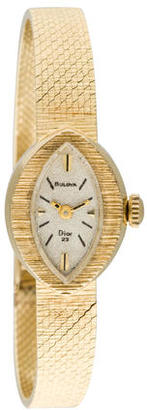 Bulova for Christian Dior Collection 14K Watch $995 thestylecure.com