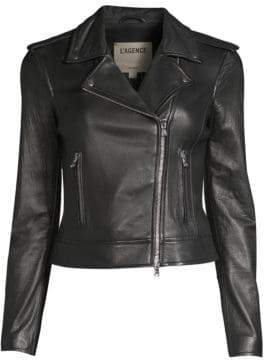 L'Agence Perfecto Leather Moto Jacket