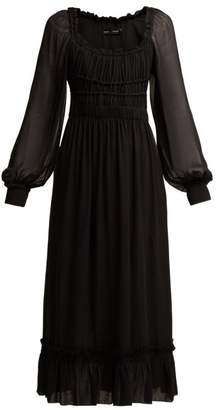 Proenza Schouler Crepe Chiffon Square Neck Dress - Womens - Black
