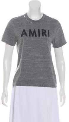 Amiri Distressed Graphic Top