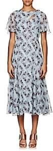 Erdem Women's Kathryn Floral Silk Midi-Dress - Lt. Blue