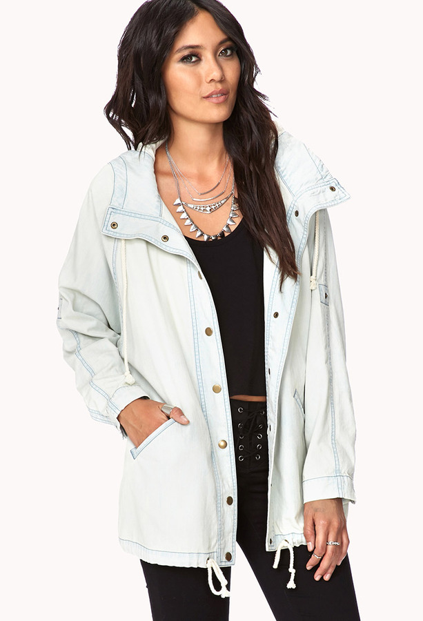 Forever 21 Life In ProgressTM Faded Utility Jacket