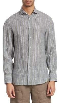Brunello Cucinelli Striped Button-Front Shirt