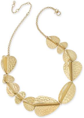 "Kate Spade Gold-Tone Petal Collar Necklace, 16"" + 3"" extender"