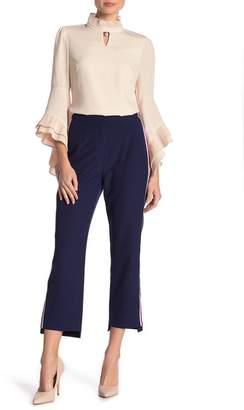 Gracia Stripe-Tape Pointed Pants