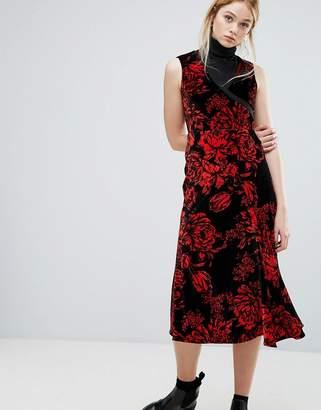 Sportmax CODE Code Garza Velvet Midi Dress